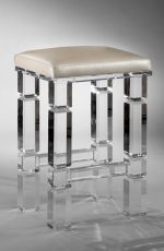 Muniz' Berlin Acrylic Backless Modern Bar Stool with Square Seat