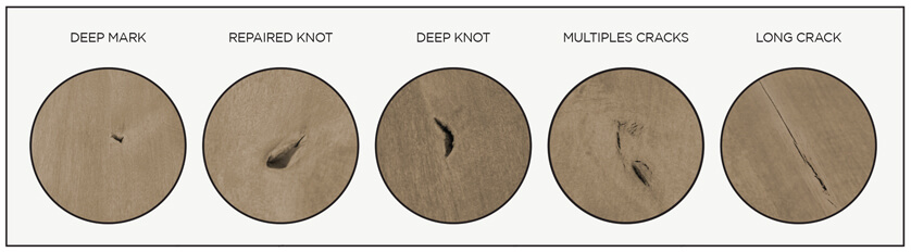 Amisco's Natural Characteristics of the Distressed Solid Wood