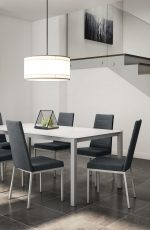Amisco's Luna Comfortable Modern Blue Dining Chairs in Modern Dining Room