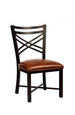 Wesley Allen's Raleigh Brown/Black Transitional Dining Chair