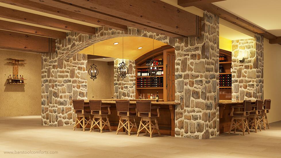 El Dorado Swivel Bar Stools by Darafeev in Home Bar