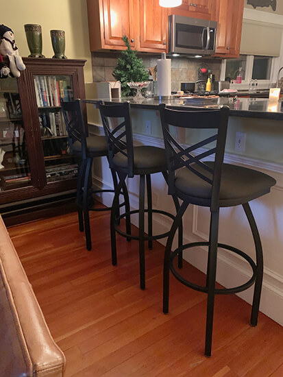 Holland's Catalina Swivel Extra Tall Bar Stools in Black - Modern Style
