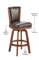 Darafeev's #915 Upholstered Swivel Wood Stool Features