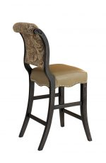 Darafeev's Madrid Upholstered Bar Stool with Nailhead Trim - View of Back