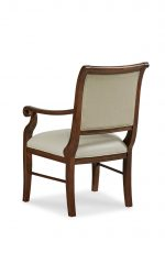 Fairfield's Emmett Upholstered Wood Dining Chair with Arms - View of Back
