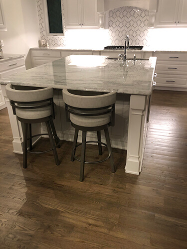 Amisco's Ronny Swivel Kitchen Counter Stools in White, Transitional, Luxurious Kitchen