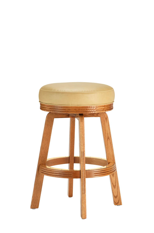 Darafeev's 438 Wood Oak Backless Swivel Stool