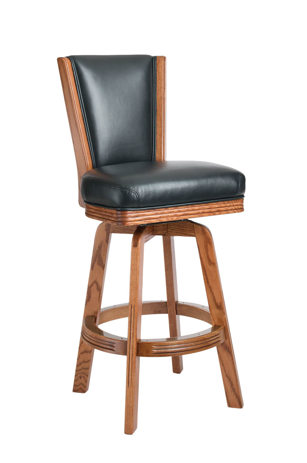 Darafeev's 615 Oak Upholstered Swivel Stool