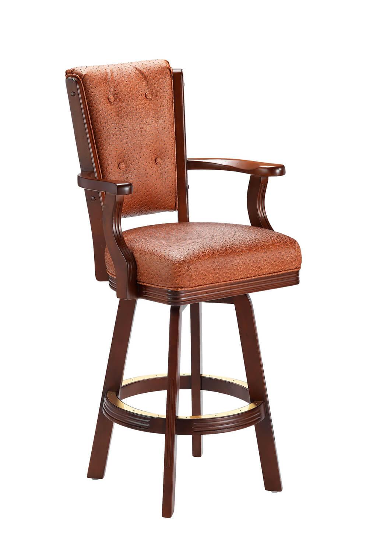 Darafeev's 960 Wood Upholstered Swivel Stool
