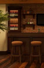 Darafeev's 965 Backless Swivel Bar Stools in Home Bar