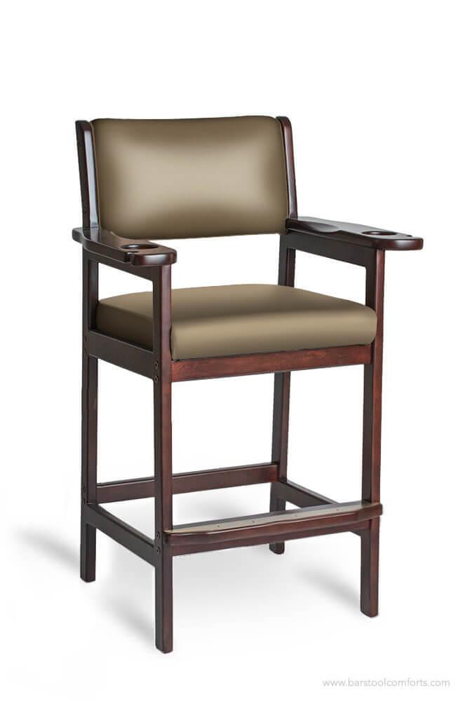 Darafeev's 977 Upholstered Wood Billiard Spectator Bar Stool
