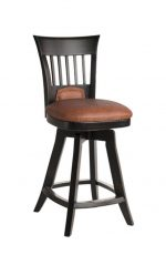 Darafeev's Brolio Upholstered Flexback Wood Swivel Bar Stool with Back