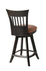 Darafeev's Brolio Upholstered Flexback Wood Swivel Bar Stool with Back - View of Back