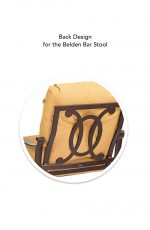 Woodard's Belden Bar Stool Back Design