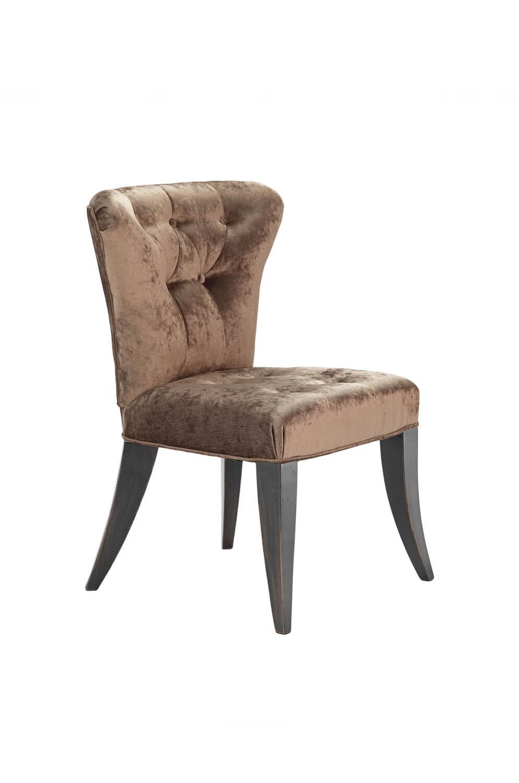 Bourbon Maple Wood Upholstered Flexback Chair
