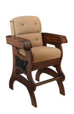 Darafeev's Habana Wood Upholstered Cigar Chair with Arms - Multifunctional Bar Stool