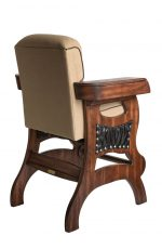 Darafeev's Habana Wood Upholstered Cigar Chair with Arms - Multifunctional Bar Stool - View of Back