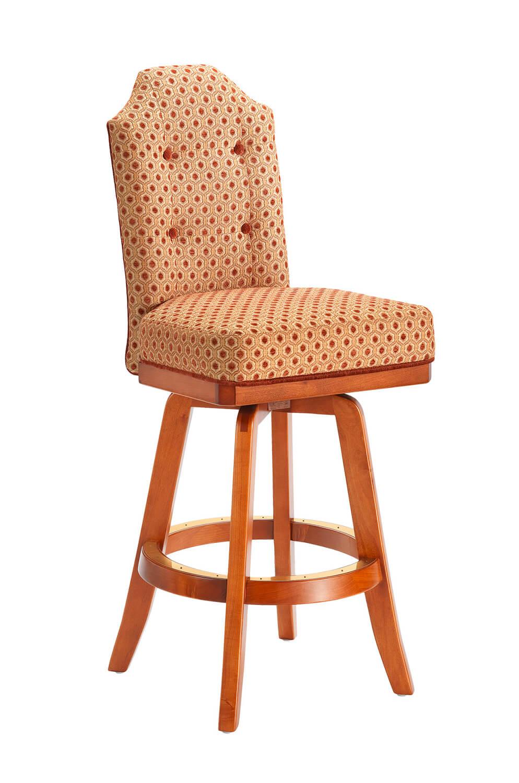 Darafeev's San Marino Wood Upholstered Swivel Stool