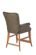 Darafeev's Treviso Wood Upholstered Bar Stool with Flex Back and Arms - View of Back