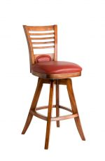 Darafeev's Veneto Wood Upholstered Swivel Bar Stool with Flex Back