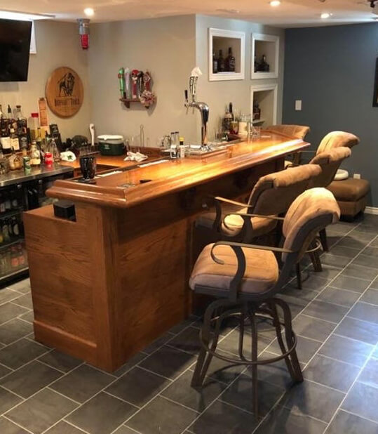 #2535 Lisa Furniture Tilt Swivel Bar Stools with Arms - in Home Bar