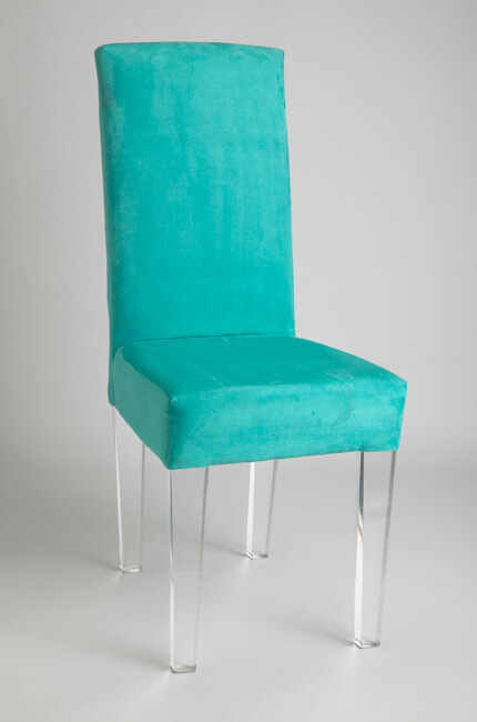 Elite Acrylic Dining Chair with Upholstered Back