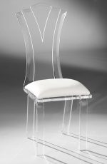 Muniz Princess Acrylic Modern Dining Chair with Seat Cushion