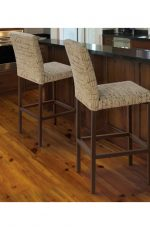 Trica's Basso Modern Bar Stools in Brown in Transitional Kitchen