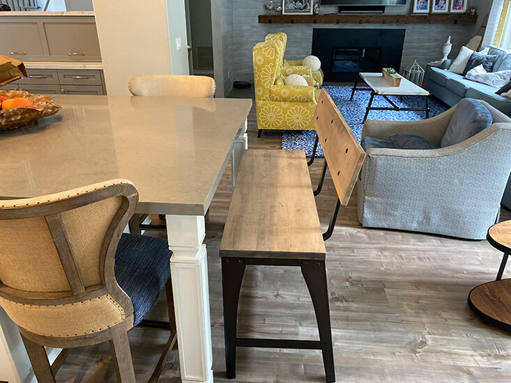 Amisco's Architect Counter Bench in Customer Dining Space