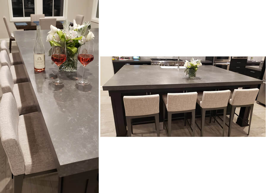 Amisco's Ethan Modern Counter Stools in Modern Kitchen - Gray and Light Tan
