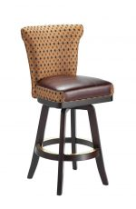 Darafeev's Dara Maple Upholstered Swivel Wood Bar Stool with Flexback
