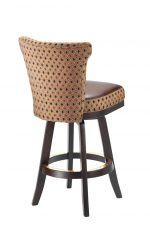 Darafeev's Dara Maple Upholstered Swivel Wood Bar Stool with Flexback - View of Back