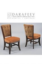 Darafeev's Maple Luxury Wood Dining Chair with Button-Tufting in Dark Wood
