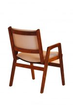 Darafeev's Spencer Walnut Wood Upholstered Stacking Dining Arm Chair - Back View