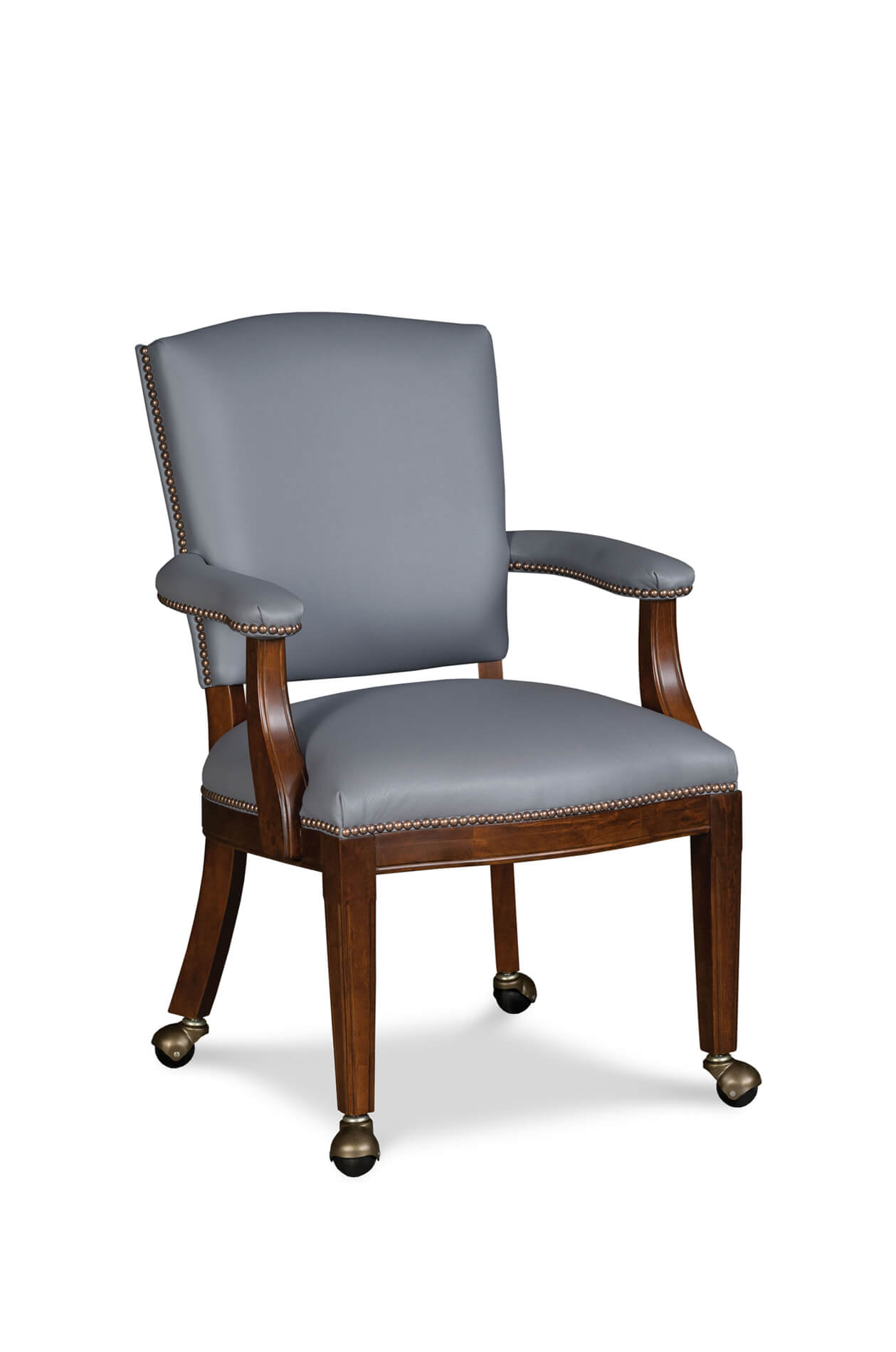 Fairfield's Allen Upholstered Dining Arm Chair with Casters