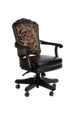 Darafeev's Centurion Swivel Luxury Adjustable Game Chair with Arms in Black