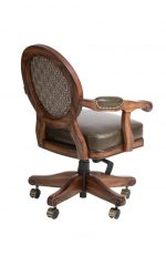 Darafeev's Chantal Maple Game Chair with Oval Back, Arms, and Casters - View of Back