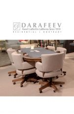 Darafeev's Mod Adjustable Upholstered Swivel Dining Chairs with Wheels