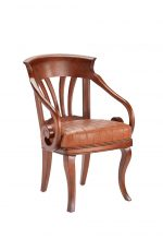 Darafeev's Nomad Maple Club Chair with Arms and Seat Cushion