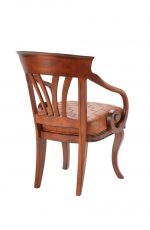 Darafeev's Nomad Maple Club Chair with Arms and Seat Cushion - Back View