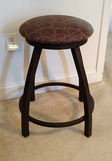 Holland's Misha XL Backless Bronze Swivel Bar Stool with Seat Cushion Pattern