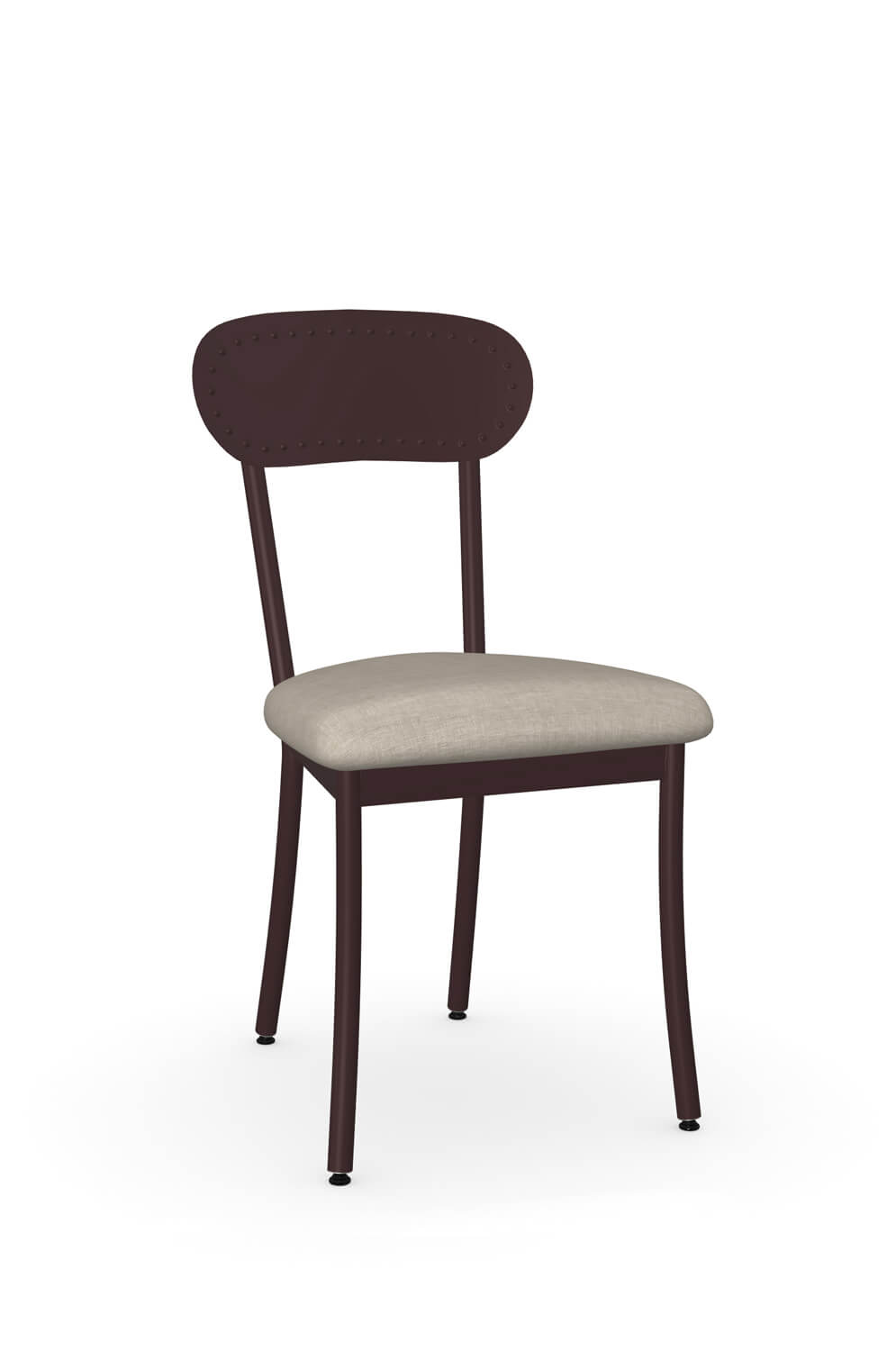 Bean Dining Chair with Wood Back and Seat Cushion