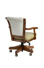 Darafeev's Classic Maple Game Chair with Arms, Nailhead Trim, and Adjustable Height Lever - View of Back