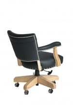 Darafeev's El Dorado Swivel Game Chair with Arms in Black Maple Wood - View of Back
