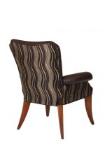 Darafeev's Treviso Upholstered Flexback Dining Chair with Arms and Wood Frame - View of Back