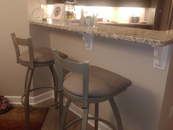 Holland's Catalina Low Back Swivel Extra-Tall Bar Stool in Nickel in Kitchen