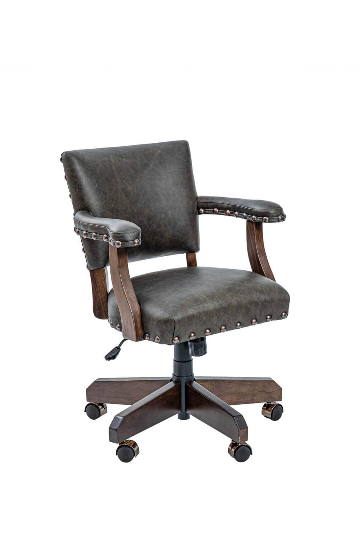 El Dorado Maple Adjustable Swivel Game Chair with Arms