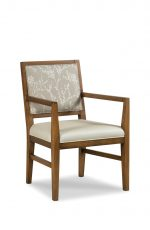 Fairfield's Potter Wood Dining Arm Chair with Seat and Back Cushion
