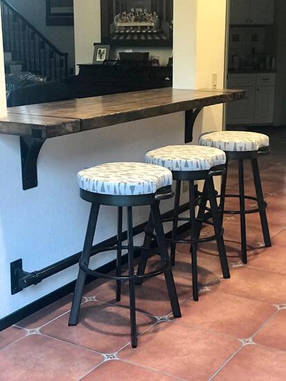 Amisco's Bryce Backless Black Swivel Bar Stool in Kitchen Bar