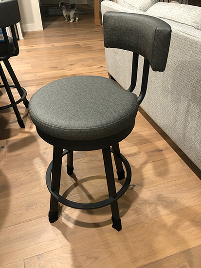 Amisco's Barry Swivel Counter Stool in Black